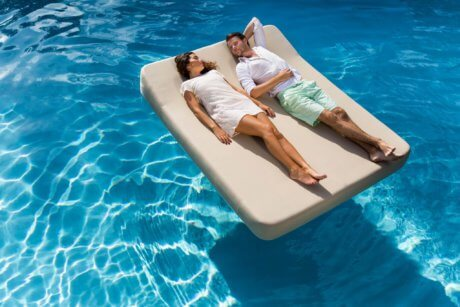 JACKIE TWIN Extra Soft Floating Lounger White