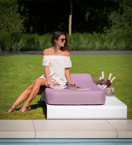 Luxury outdoor daybed by Mr Blue Sky