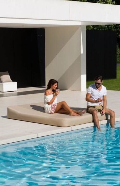 JACKIE TWIN White floating lounger