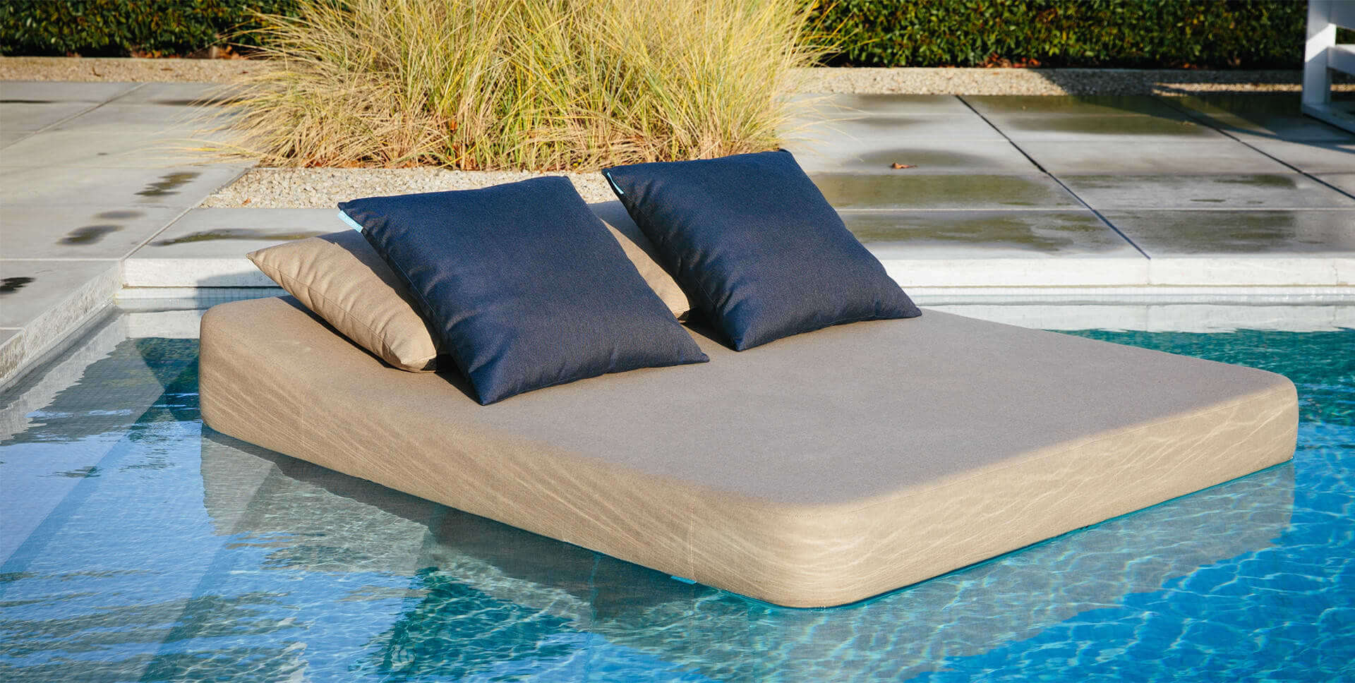 luxury floating lounger by Mr Blue Sky