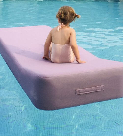 upholstered floating lounger