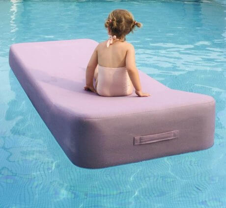 JACKIE Extra Soft Floating Lounger White