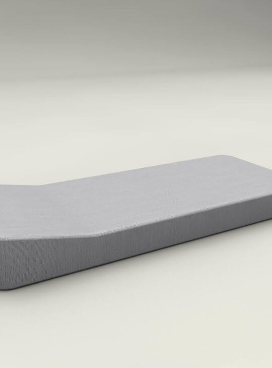 JACKIE Extra Soft Floating Lounger Grey