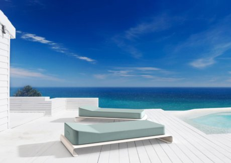 Lucille White Outdoor Daybed Base