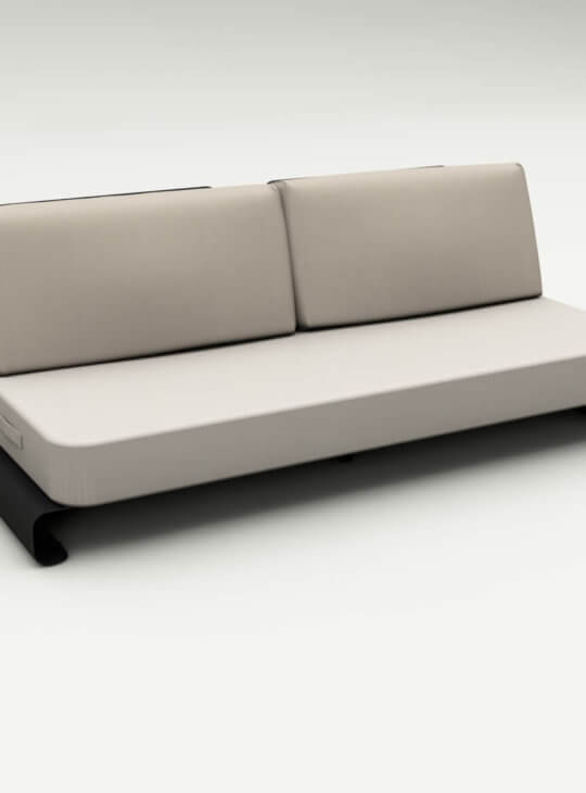 Joanne Outdoor Sofa Black Beige