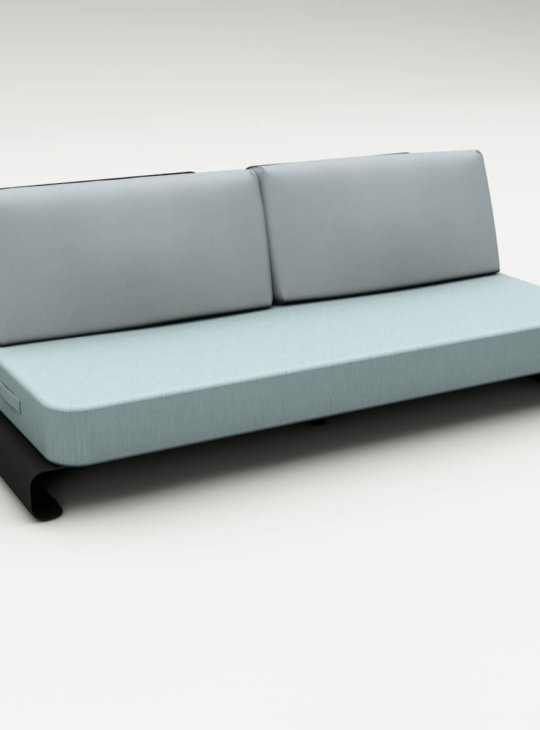 Joanne Outdoor Sofa Black Blue