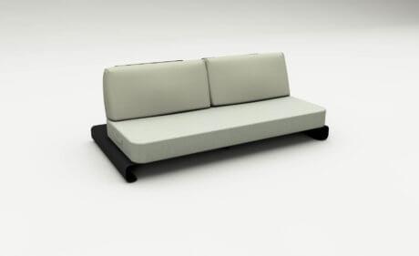 Joanne Black Green Outdoor Sofa
