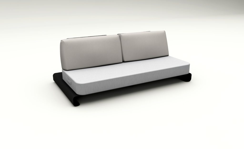 Floating sofa by Mr Blue Sky