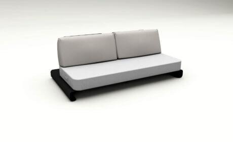 Joanne Black Grey Outdoor Sofa