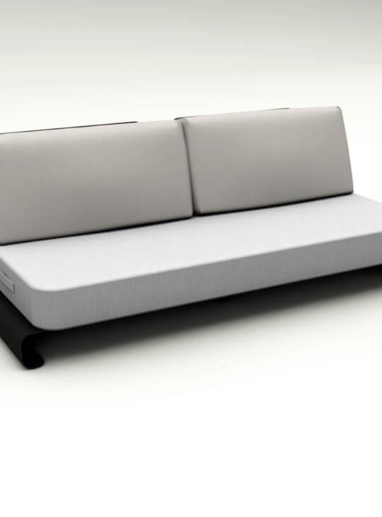 Joanne Black Grey Outdoor Sofa