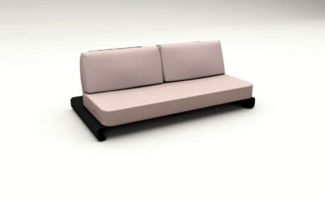 Joanne Outdoor Sofa Black Pink