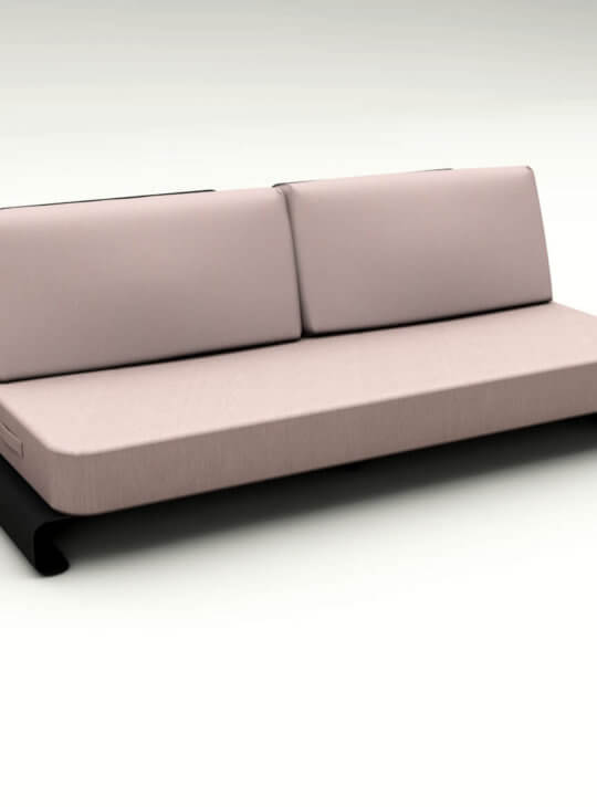 Joanne Outdoor Sofa Black Pink