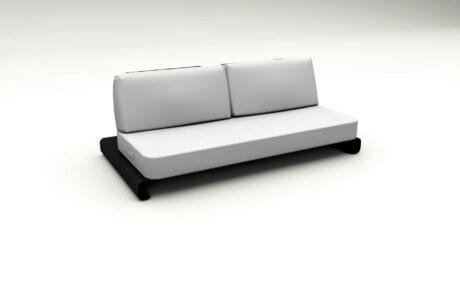 Joanne Outdoor Sofa Black White