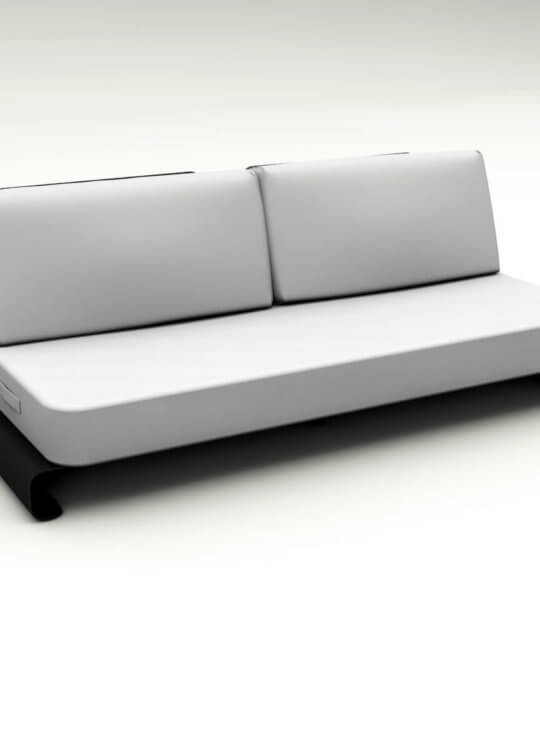 Joanne Outdoor Sofa Black White